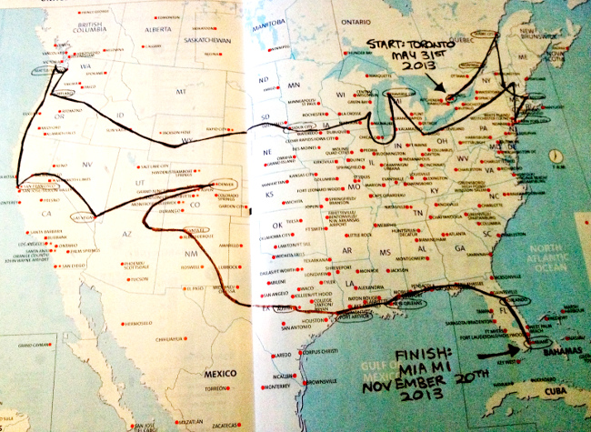 USA road trip map Double-Barrelled Travel