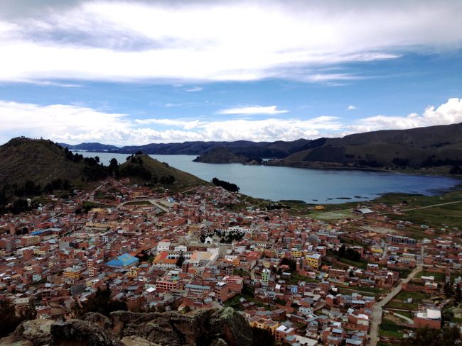 View over Copacabana Bolivia Double-Barrelled Travel