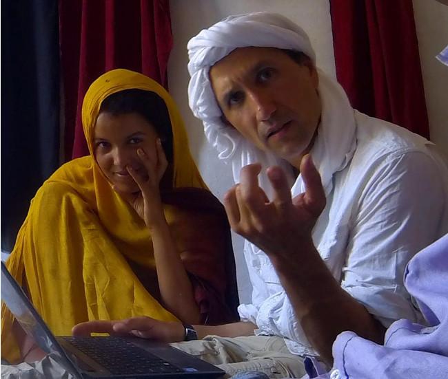 Chinguetti in northern Mauritania with local girl Fatimatu Double-Barrelled Travel