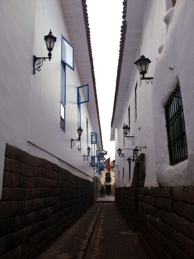 Cusco alleyway Double-Barrelled Travel