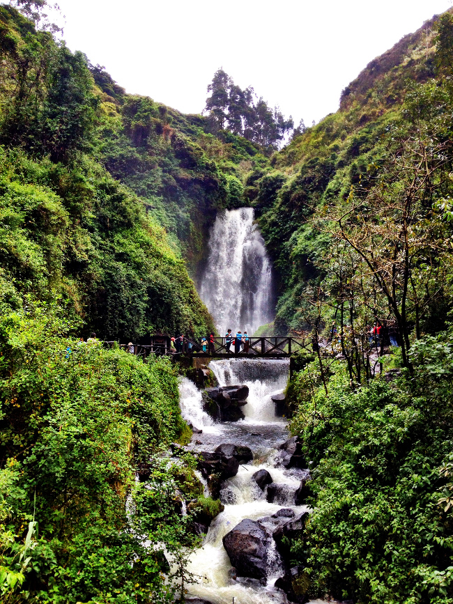 Peguche waterfall Ecuador Double-Barrelled Travel
