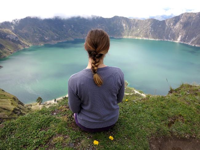 Quilotoa lake view Ecuador Double-Barrelled Travel