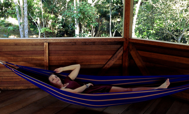 Sani Lodge hammock in bar Double-Barrelled Travel