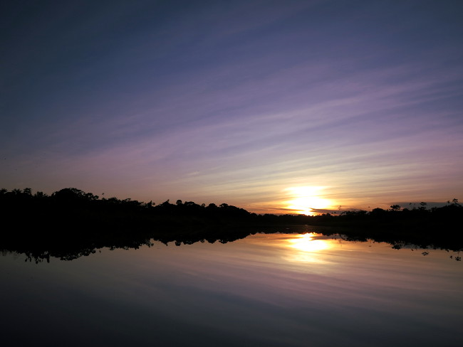 Sunset Ecuador Amazon Double-Barrelled Travel