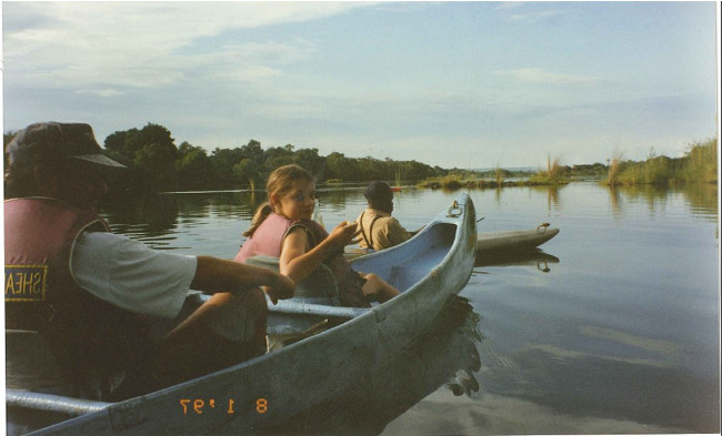 Zambezi river as a nine year old