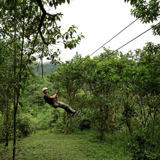 Ziplining Mindo Ecuador Double-Barrelled Travel