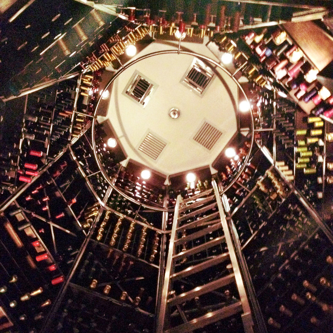 wine cellar at Zazu Restaurant Quito Double-Barrelled Travel