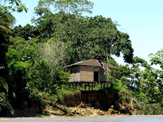 Abandoned hut in the Ecuador Amazon Double-Barrelled Travel