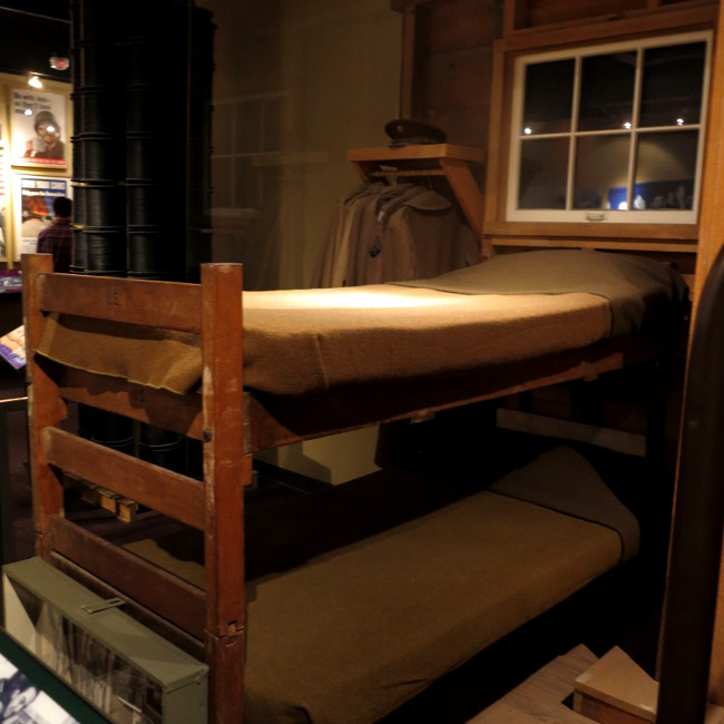 Bunks in the National World War II Museum Double-Barrelled Travel