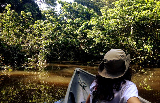 Canoeing in the Ecuador Amazon Double-Barrelled Travel