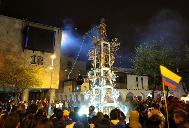 Cuenca street fireworks
