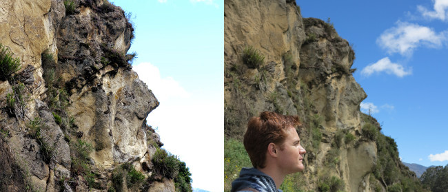 Inca face in cliff Ingapirca Double-Barrelled Travel