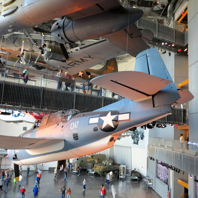 Planes in the National World War II Museum Double-Barrelled Travel