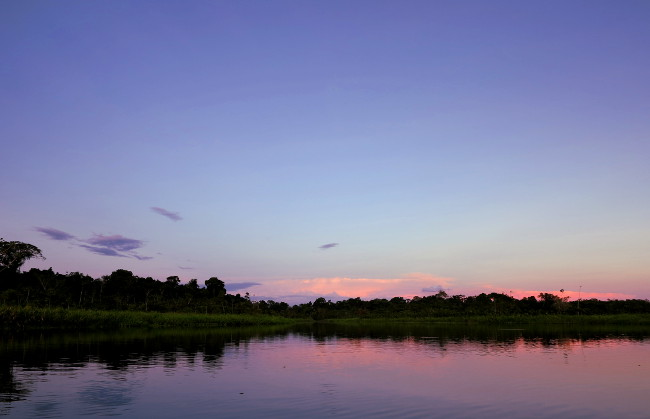 Sunset in the Ecuador Amazon Double-Barrelled Travel