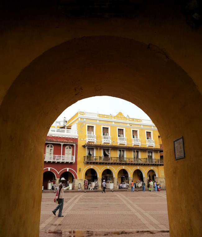 Cartagena archway Double-Barrelled Travel