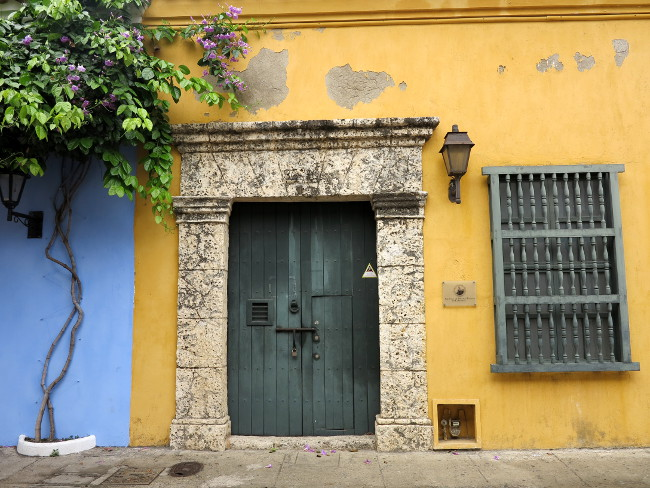 Cartagena doorway Double-Barrelled Travel