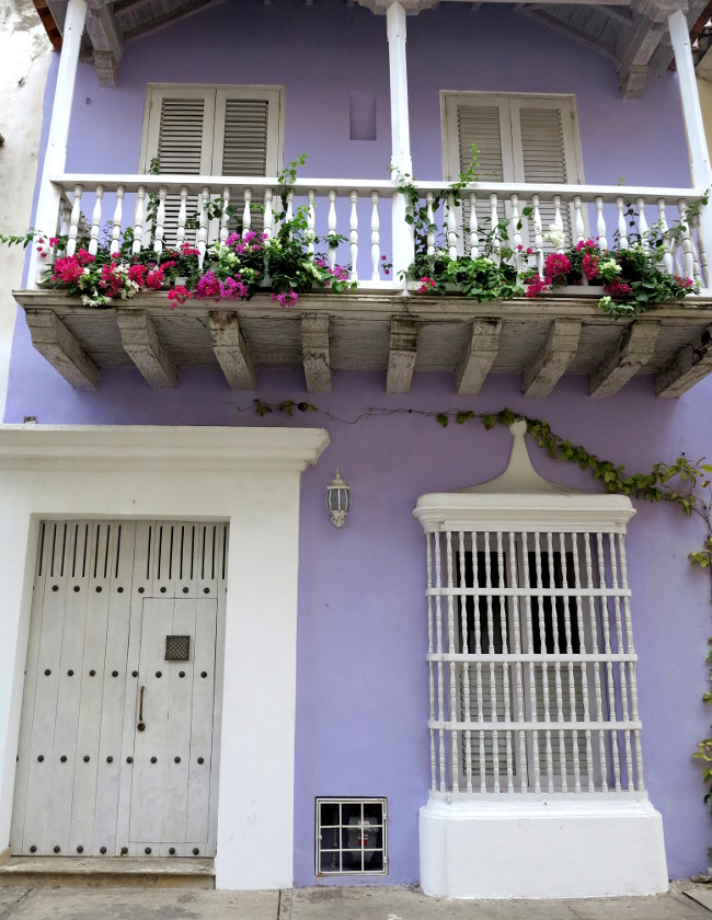 Cartagena purple house Double-Barrelled Travel