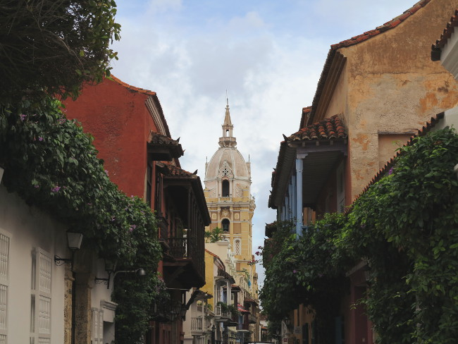Cartagena street Double-Barrelled Travel