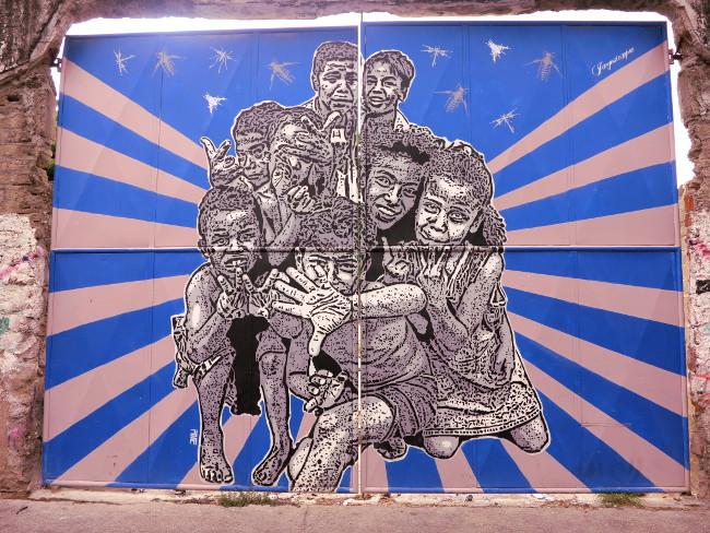 Cartagena street art Double-Barrelled Travel