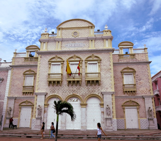 Cartagena town square Double-Barrelled Travel