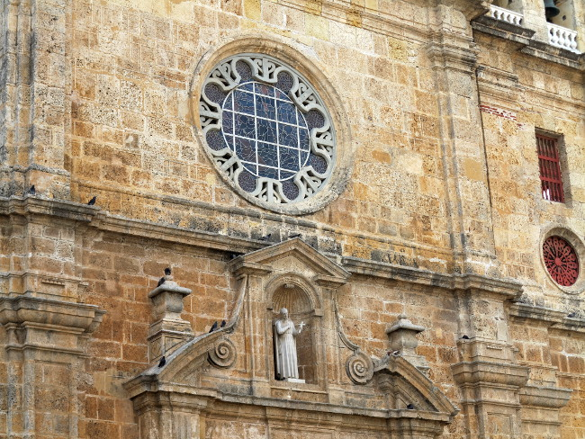 church close up in Cartagena Double-Barrelled Travel