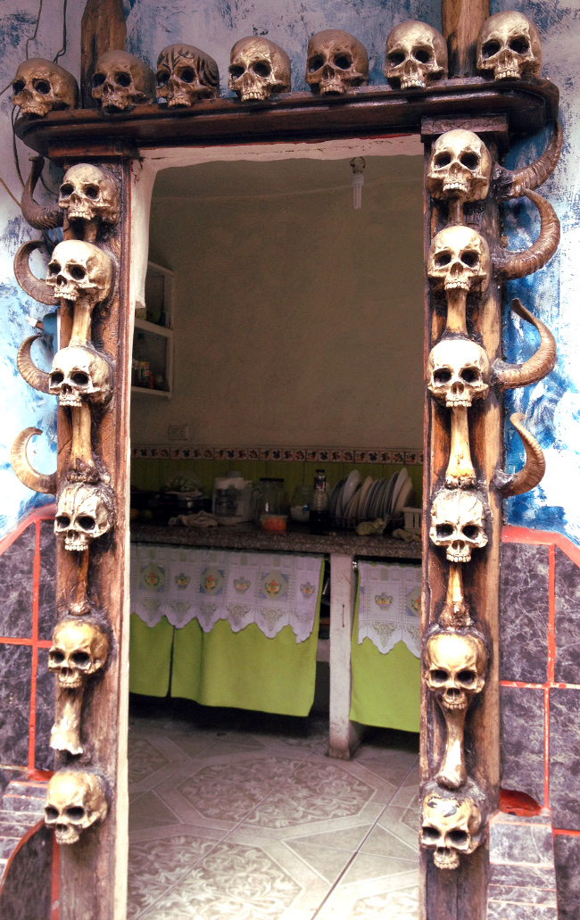 prohibited museum cuenca skull doorway Double-Barrelled Travel