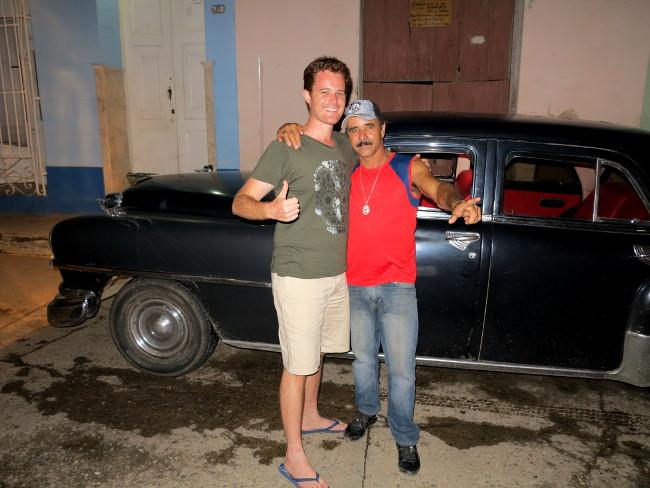 Cuba classic car driver Double-Barrelled Travel