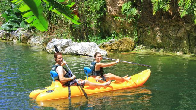 Kayaking Xenotes Oasis Maya Double-Barrelled Travel