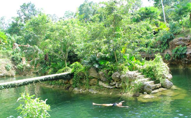 Large cenote Xenotes Oasis Maya Double-Barrelled Travel