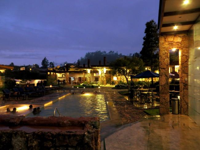 Piedra de Agua Banos Ecuador main pool - Double-Barrelled Travel