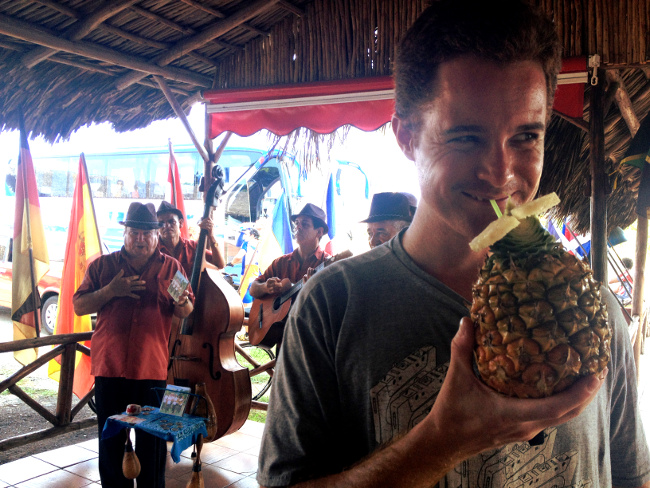 The band and pina colada at the roadside stop somewhat made up for getting ripped off