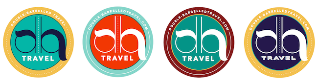 Double-Barrelled Travel logo design process