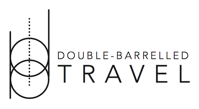 Double-Barrelled Travel second logo design
