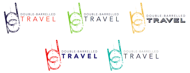 Double-Barrelled Travel third logo design