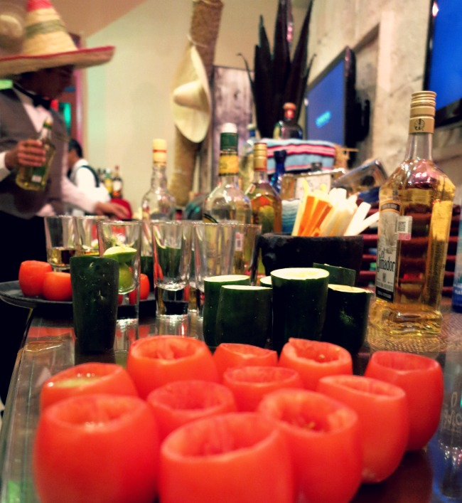 Tequila bar at Dreams Riviera Cancun Double-Barrelled Travel