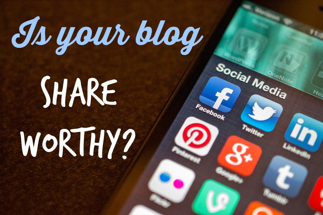 Is your blog share worthy homepage