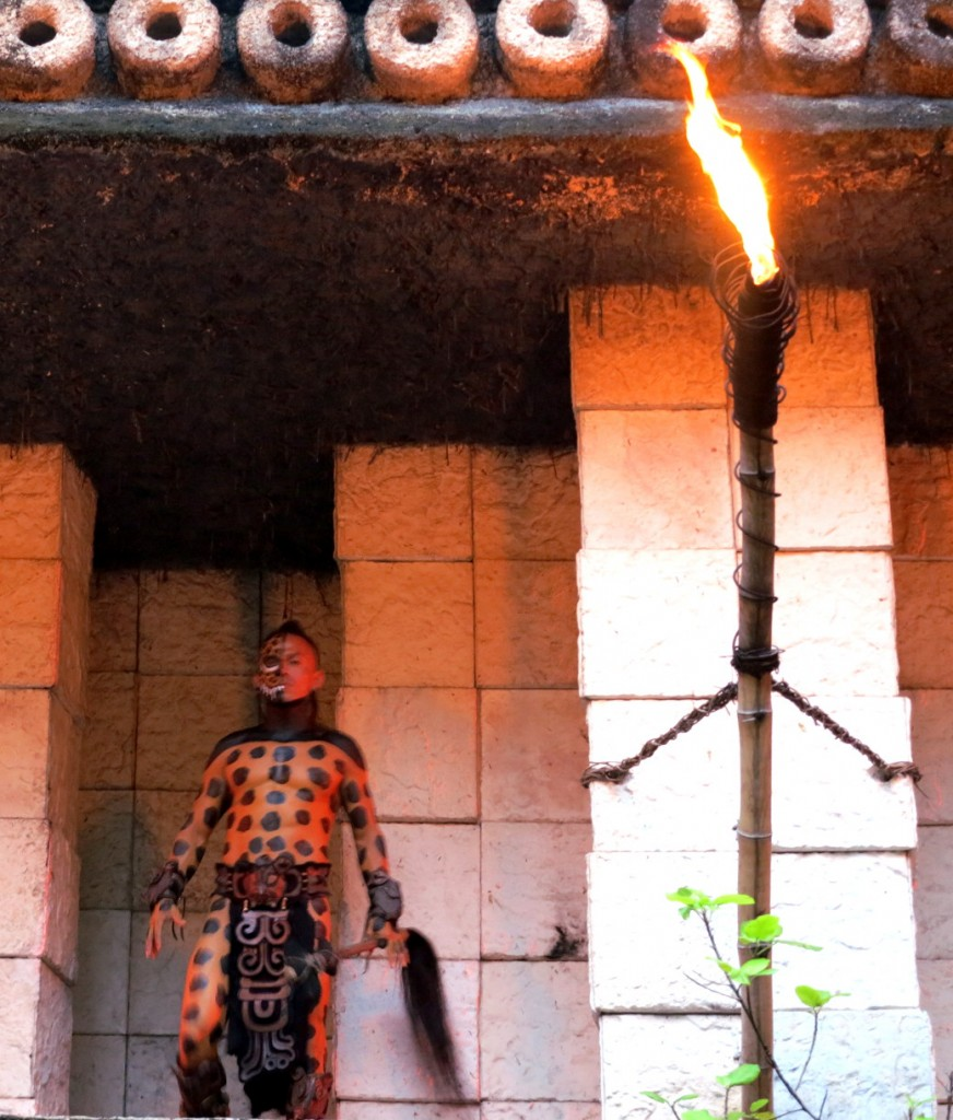 Xcaret Mexican Espectacular performer Double-Barrelled Travel