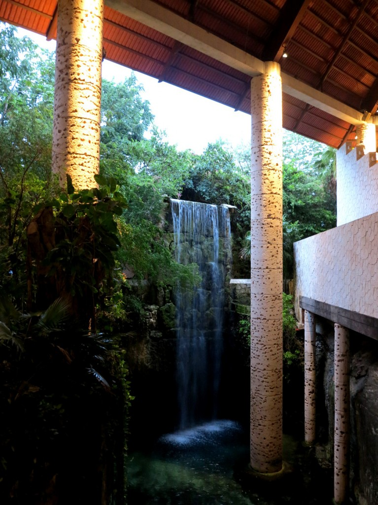 Xcaret Mexican Espectacular waterfall Double-Barrelled Travel