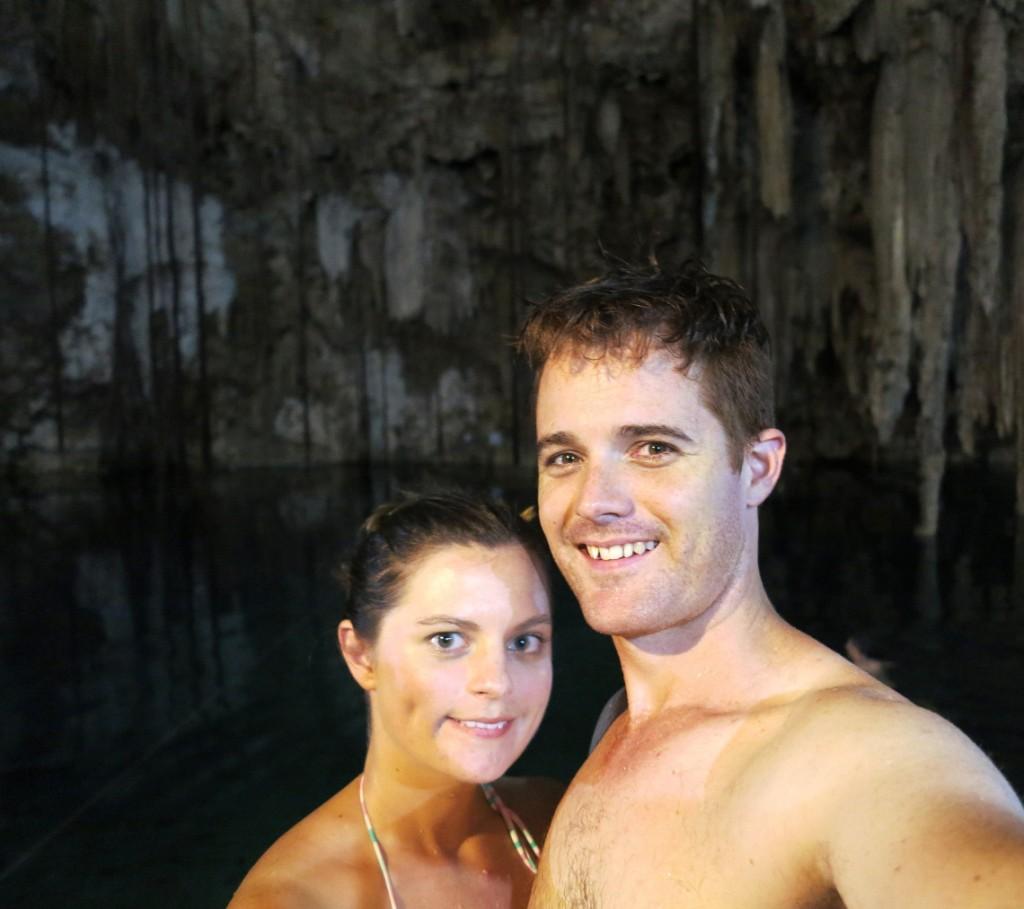 Yucatan Peninsula cenote selfie Double-Barrelled Travel