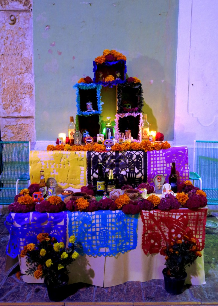 Campeche festival altar 2 Mexico Day of the Dead - Double-Barrelled Travel