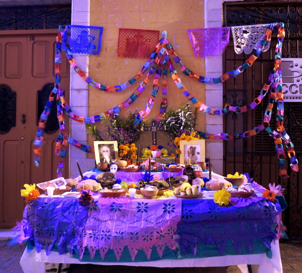 Campeche festival altar Mexico Day of the Dead - Double-Barrelled Travel