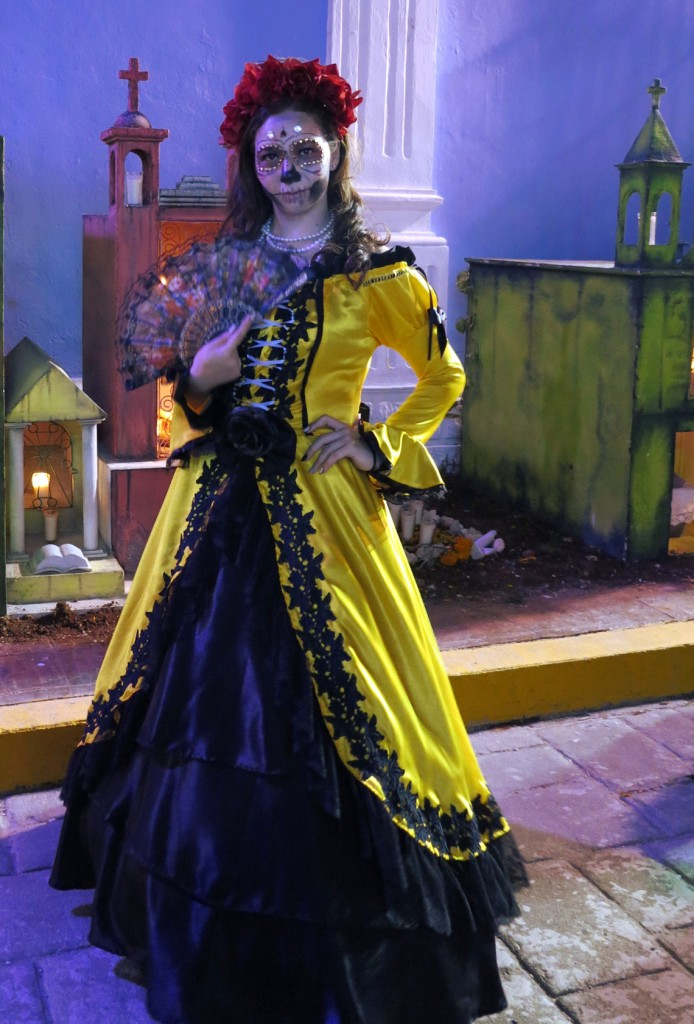 Campeche festival costume Mexico Day of the Dead - Double-Barrelled Travel