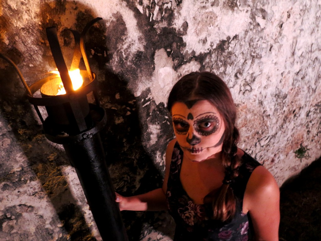 Campeche festival face paint Mexico Day of the Dead - Double-Barrelled Travel