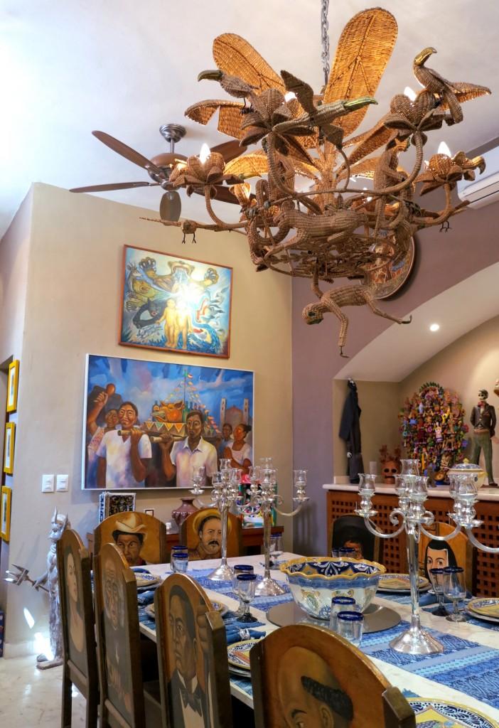 Casa de los Venados dining room Double-Barrelled Travel