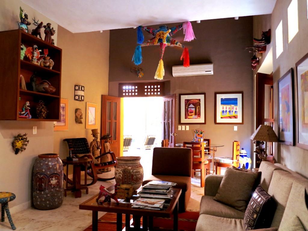 Casa de los Venados lounge room Double-Barrelled Travel