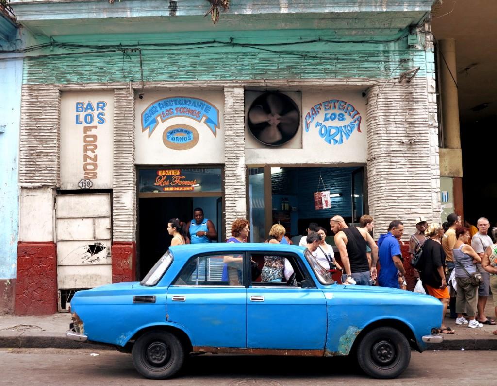 Queue for shop Cuba Double-Barrelled Travel