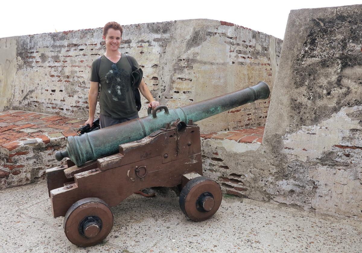 Cartagena Fort Castillo San Felipe de Barajas Colombia cannon
