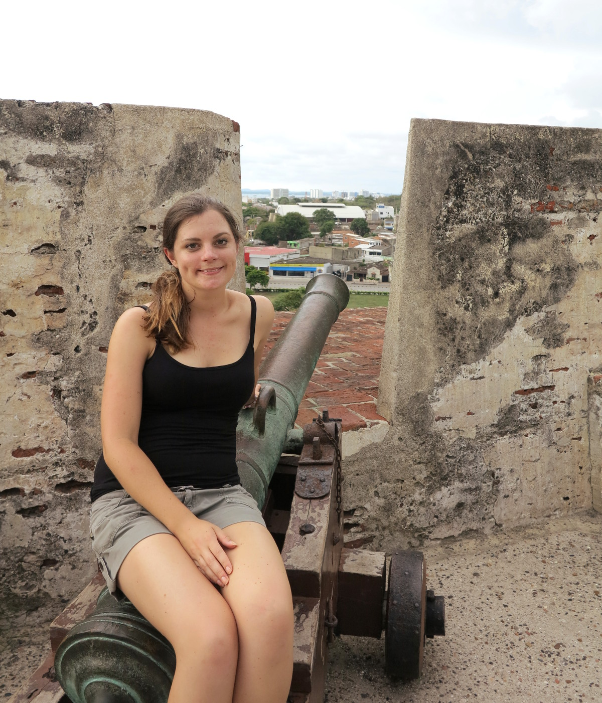Cartagena Fort Colombia cannon