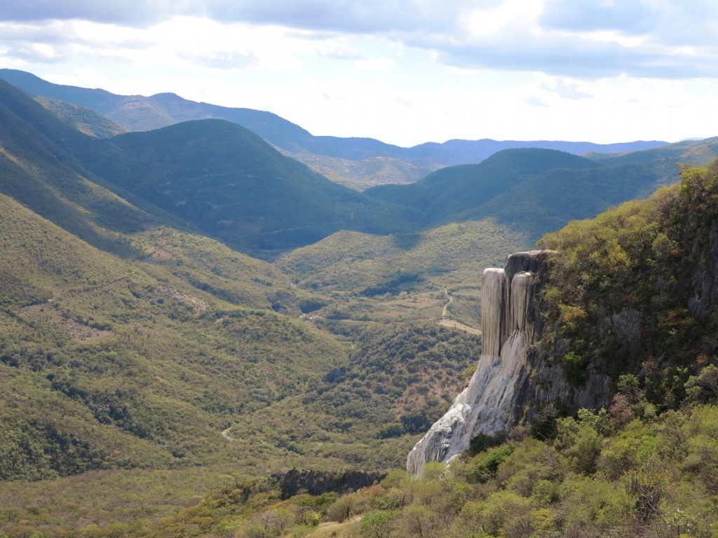 Hierve de agua waterfall Double-Barrelled Travel