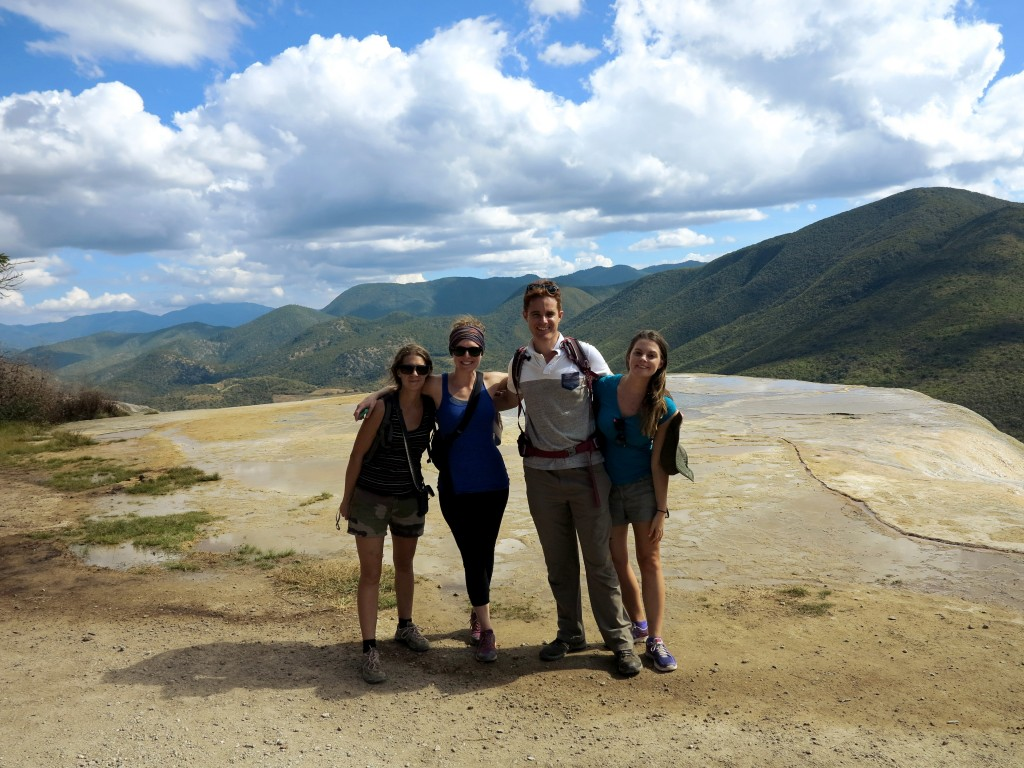 Hierve el agua Oaxaca friends Double-Barrelled Travel